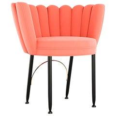 """Luxury """"Grace"""" Midcentury Contemporary Velvet Upholstered Dining & Living Chair"""
