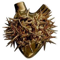 "Luxury Vase #33 ""Gold Pain"". Porcelain, Gold Leaf. Handmade design in Italy."