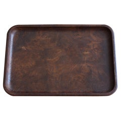 Luxury Japanese Old Trays Made of Mulberry Wood / Vintage Wooden Trays / Showa