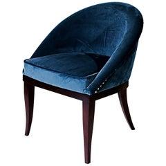 """Luxury """"Jeanne"""" Midcentury Contemporary Velvet Upholstered Dining & Living Chair"""