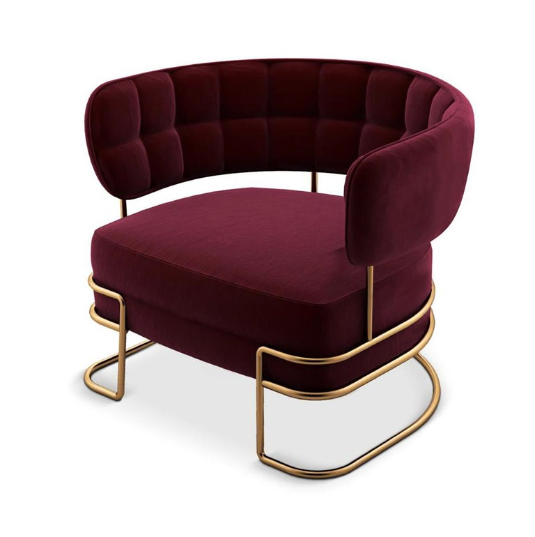 New York has always been the epicenter of the American advertising for brand, creative, media and technology. This contemporary armchair was created with the glamour spirit of one of the most famous cities in the United States. The modern and