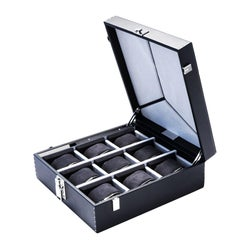 Luxury Nine Watch Box Black or Cognac