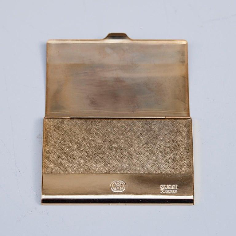 Hollywood Regency Luxury Vintage Gucci Business Card Holder Box, 1970 For Sale