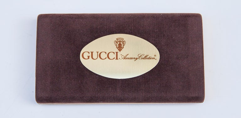Luxury Vintage Gucci Business Card Holder Box, 1970 In Excellent Condition For Sale In Munich, DE