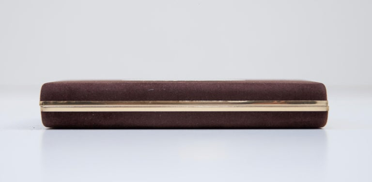 Late 20th Century Luxury Vintage Gucci Business Card Holder Box, 1970 For Sale