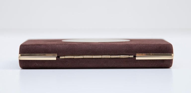 Brass Luxury Vintage Gucci Business Card Holder Box, 1970 For Sale