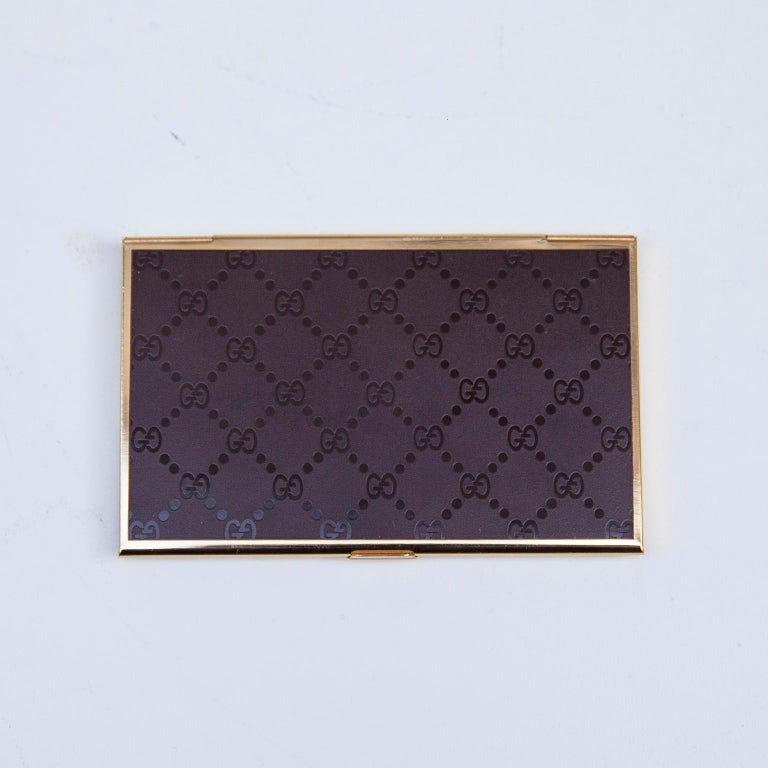 Luxury Vintage Gucci Business Card Holder Box, 1970 For Sale 1