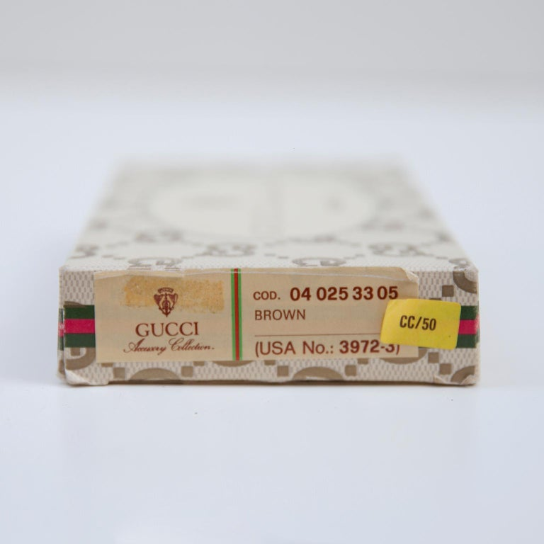 Luxury Vintage Gucci Business Card Holder Box, 1970 For Sale 2