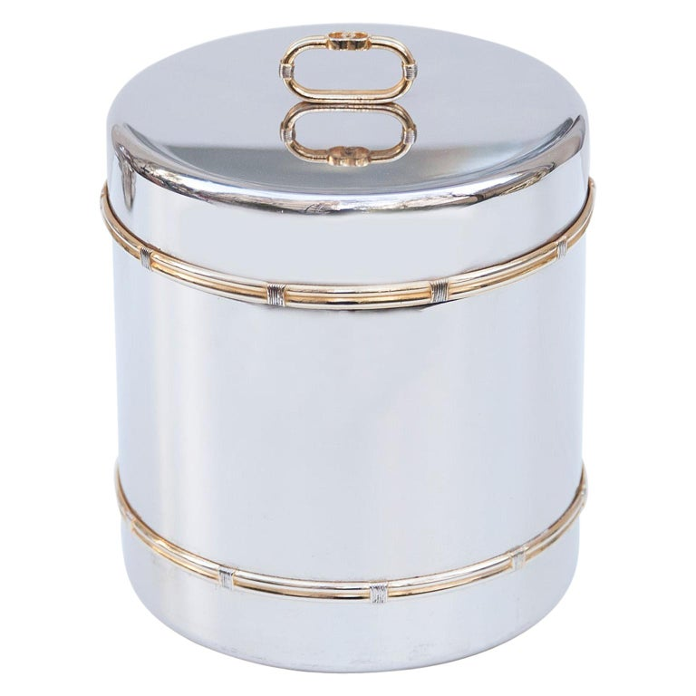 Luxury Vintage Gucci Ice Bucket, 1970 For Sale
