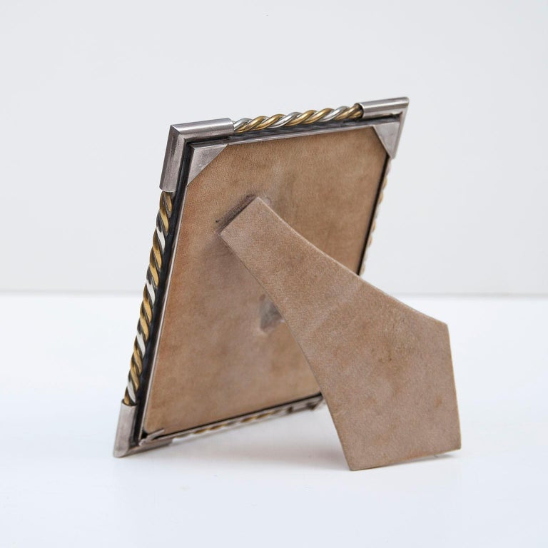 Luxury Vintage Gucci Picture Frame, 1970 In Good Condition For Sale In Munich, DE
