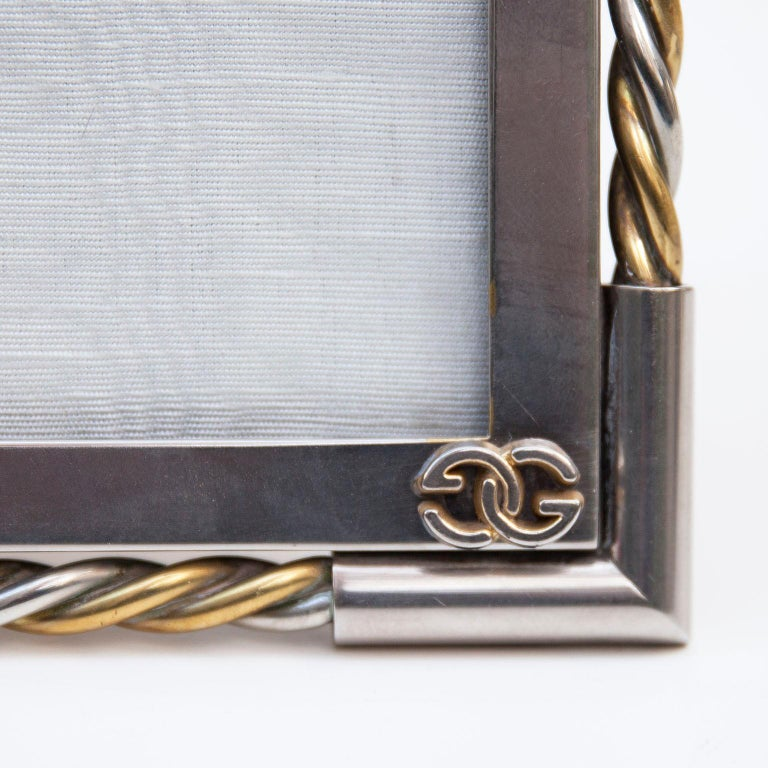 Brass Luxury Vintage Gucci Picture Frame, 1970 For Sale