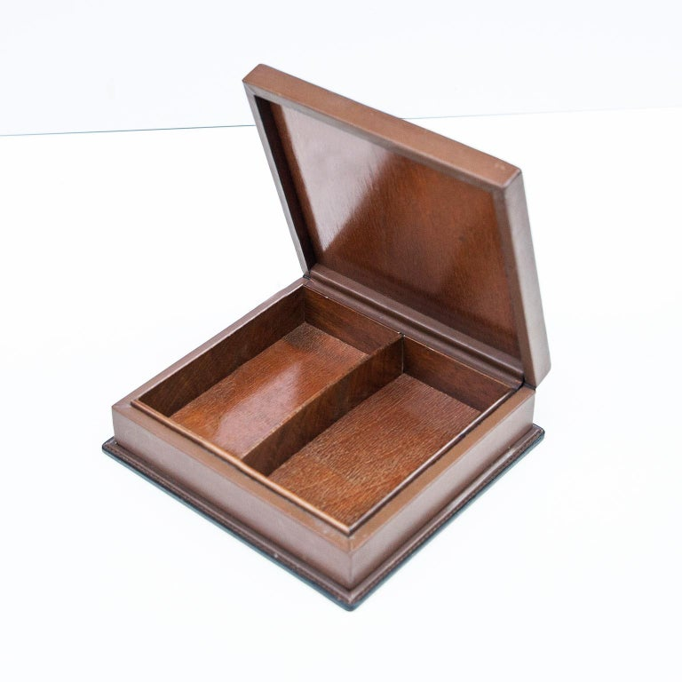 Luxury Vintage Gucci Porcelain Duck Leather Box In Good Condition For Sale In Munich, DE
