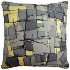 "Luxury Vintage Silk Cushion ""Dubonnet Cinzano"" Bespoke Pillow - Made in London"