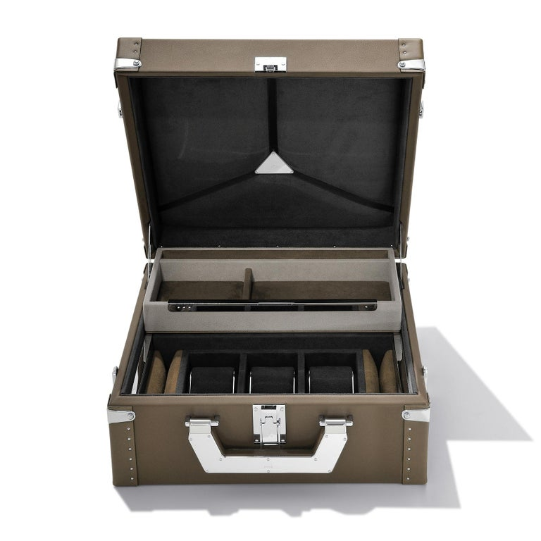 Luxury Watch Black or Brown Suitcase For Sale 3