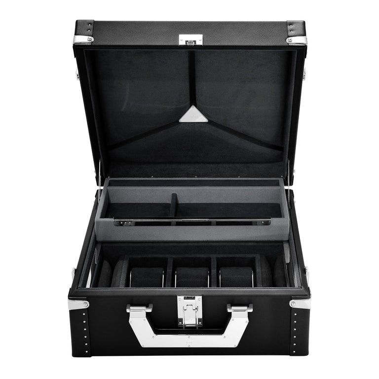 Luxury Watch Black or Brown Suitcase For Sale