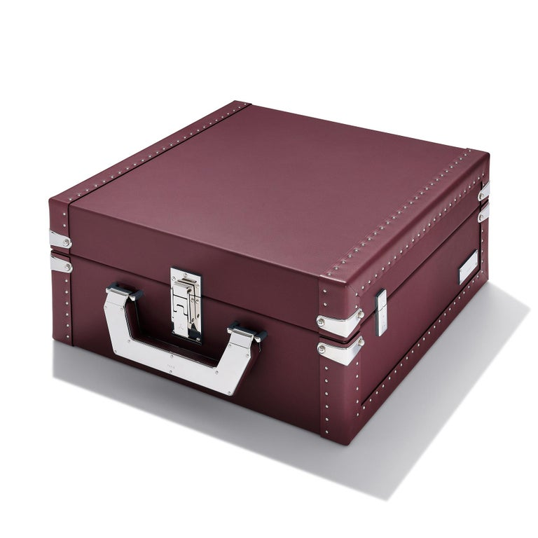 Luxury Watch Blue or Redwine Suitcase For Sale 3