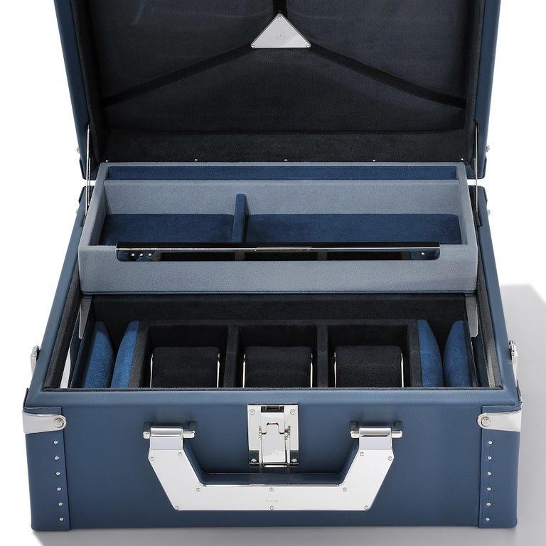 French Luxury Watch Blue or Redwine Suitcase For Sale