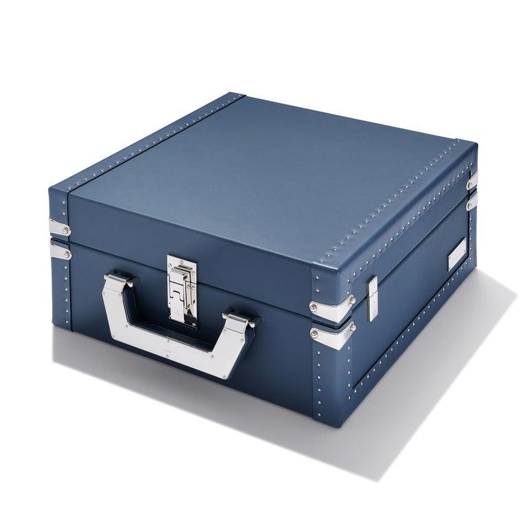 Nickel Luxury Watch Blue or Redwine Suitcase For Sale