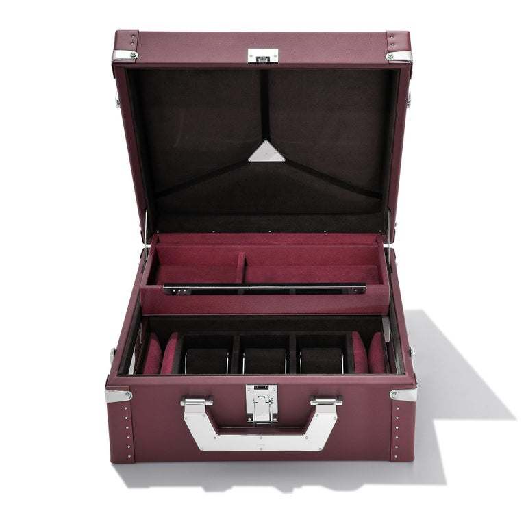 Luxury Watch Blue or Redwine Suitcase For Sale 1