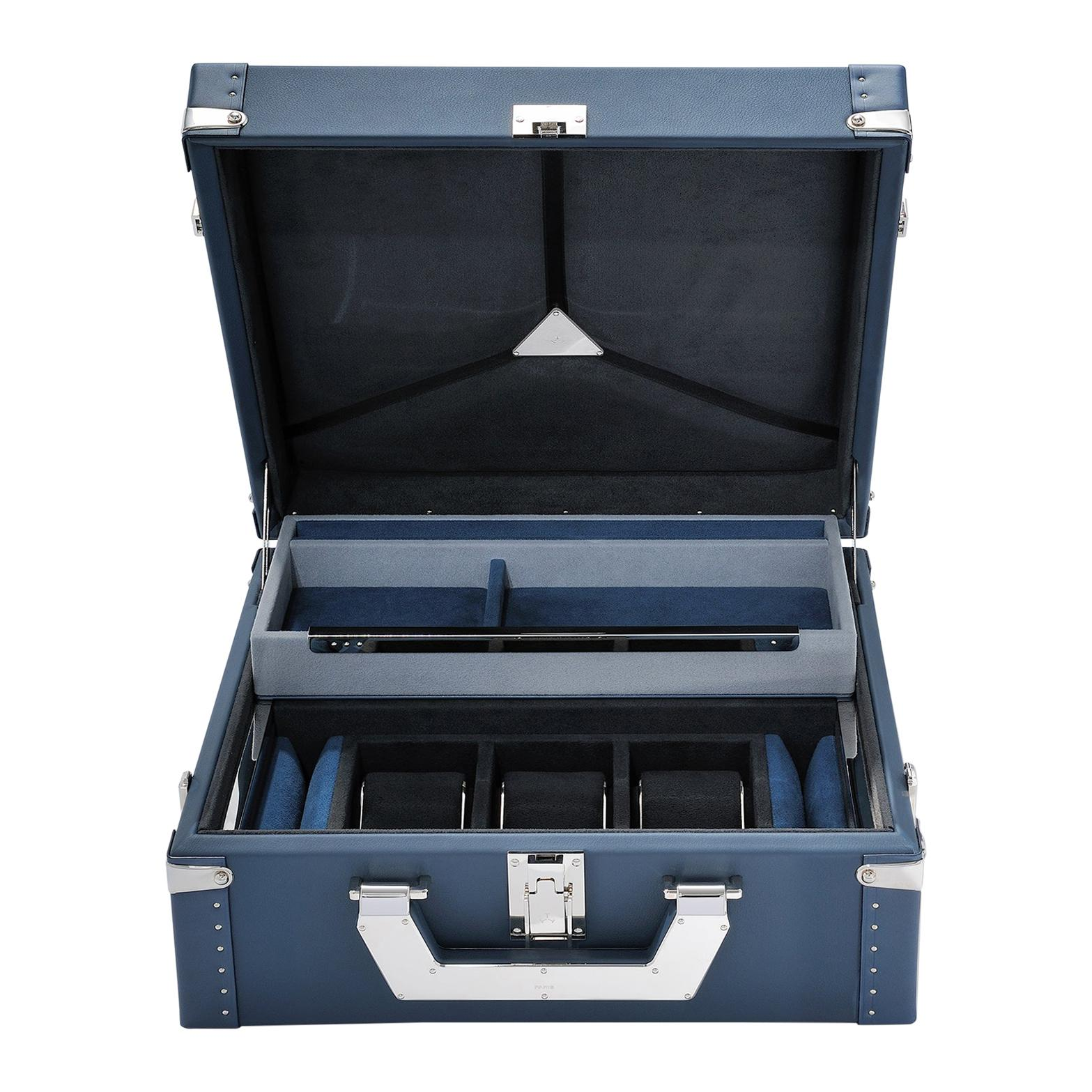 Luxury Watch Blue or Redwine Suitcase