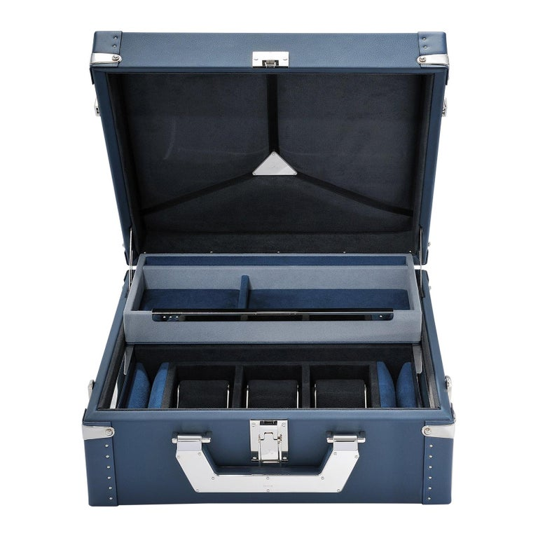 Luxury Watch Blue or Redwine Suitcase For Sale