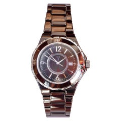 LUXUSA Stainless Steel and Ceramic Links Sapphire Crystal Date Watch