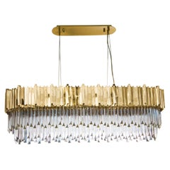 Luxxu Empire Snooker Chandelier in Brass with Crystal Glass Details