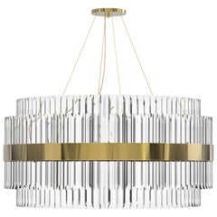 Luxxu Liberty Pendant Light in Gold-Plated Brass and Crystal Glass