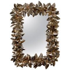 Luxxu McQueen Rectangular Mirror in Brass and Gold Finish
