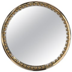 Luxxu Orbis Mirror with Gold-Plated Brass Frame and Smoked Black Mirror