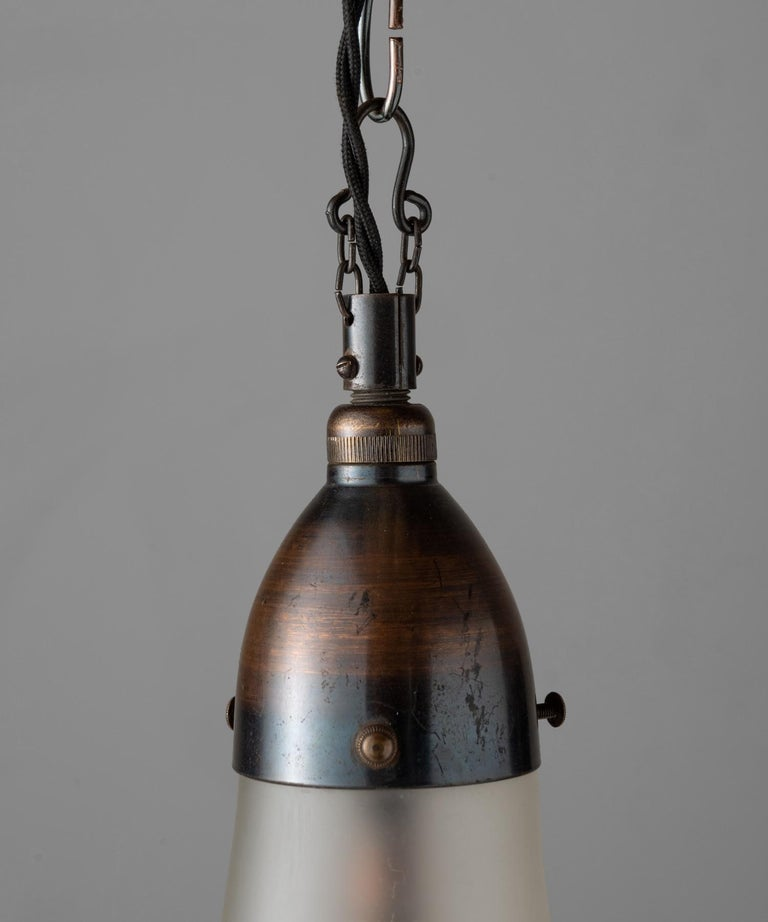Luzette Pendant by Peter Behrens, Germany, circa 1930 In Good Condition For Sale In Culver City, CA