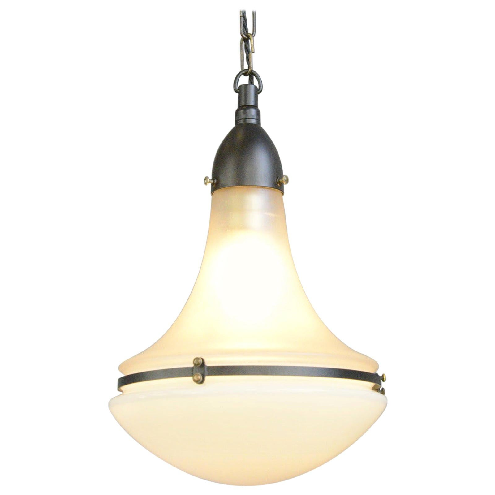 Luzette Pendant Light by Peter Behrens for Siemens, circa 1920s