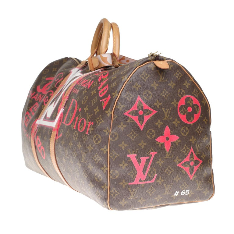 Women's or Men's LV Keepall 60 Travel bag in monogram canvas customized