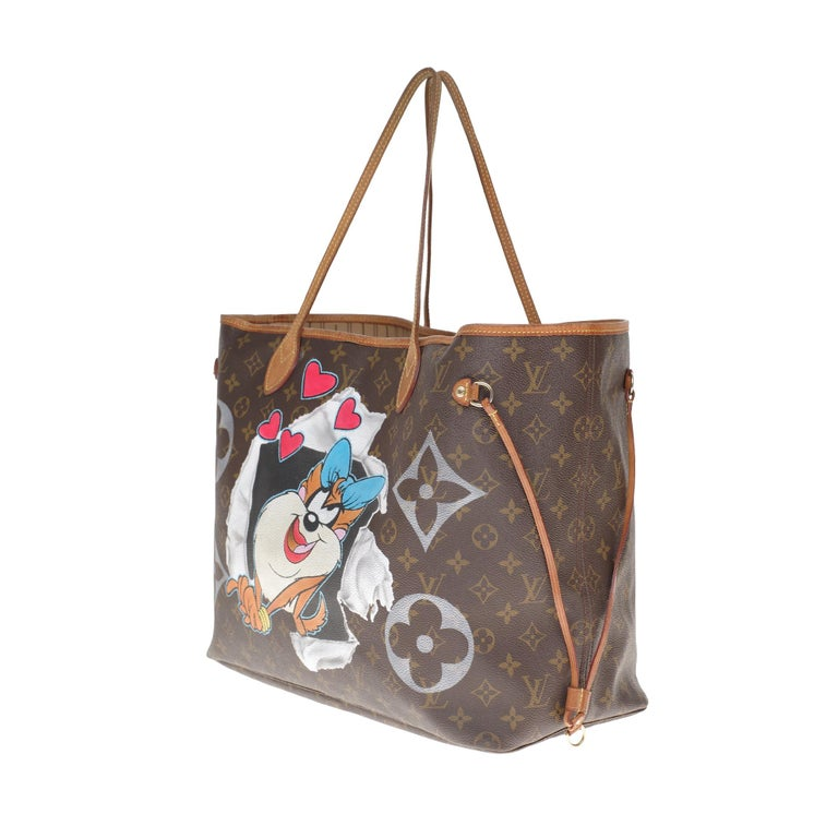 Brown LV Neverfull GM Tote bag in monogram canvas customized