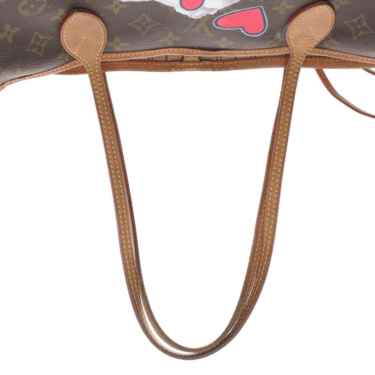 LV Neverfull GM Tote bag in monogram canvas customized
