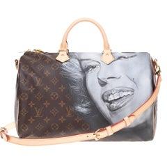 "LV Speedy 35 shouderbag in Monogram canvas customized ""Marilyn Monroe""#59"