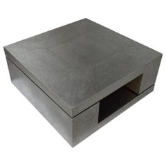 LX2 Table in Antiqued White Metal