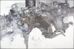 'Never Alone' Conceptual Portrait Blue Black Grey