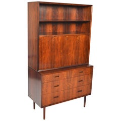 Lyby Rosewood Gentleman's Chest with Hutch #3