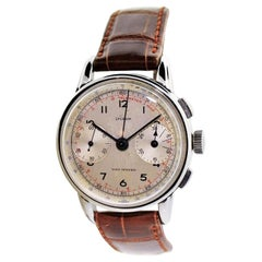 Lyceum Stainless Steel Art Deco High Grade Chronograph Manual Watch