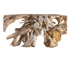 Organic Form Lychee Wood Root Console