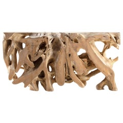 Lychee Wood Root Console