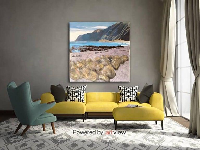 Lake landscape, Original, Landscape, Oil Paint on Panel, Exemplary Art Reviews For Sale 1