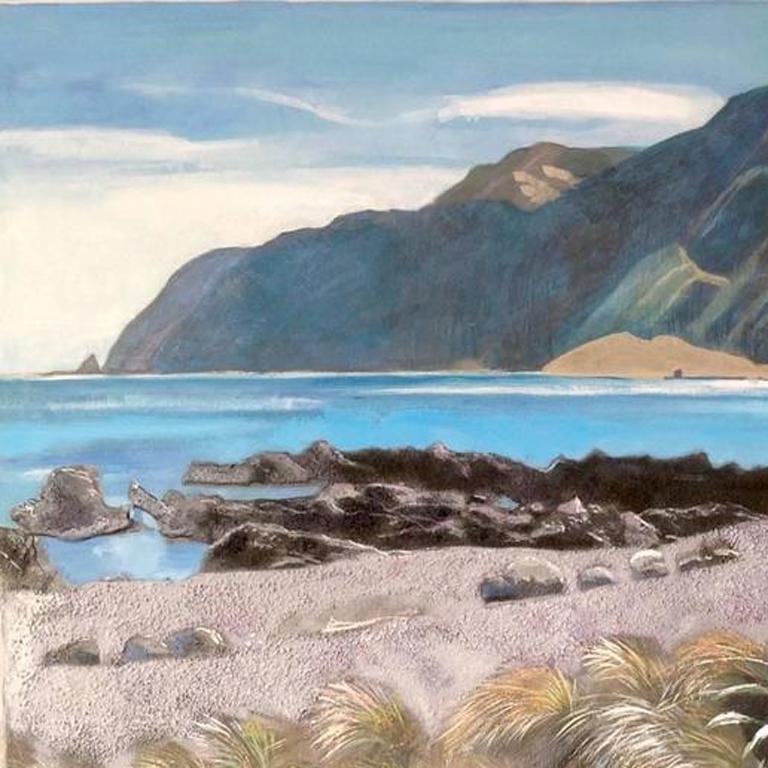 Lake landscape, Original, Landscape, Oil Paint on Panel, Exemplary Art Reviews For Sale 2