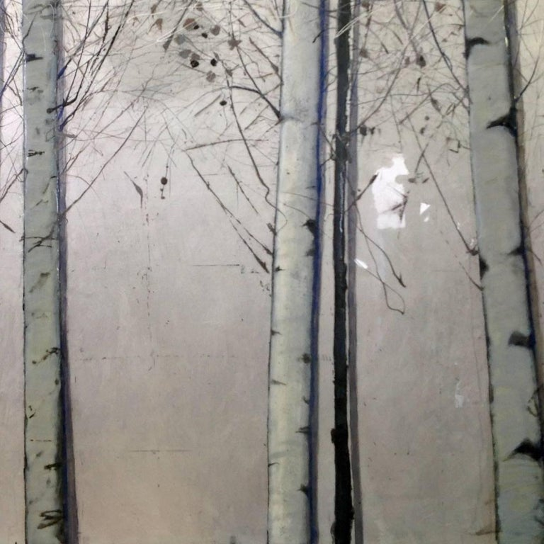 Silver Birches, Original, Oil paint on Canvas, Landscape, Exemplary Art Review For Sale 1