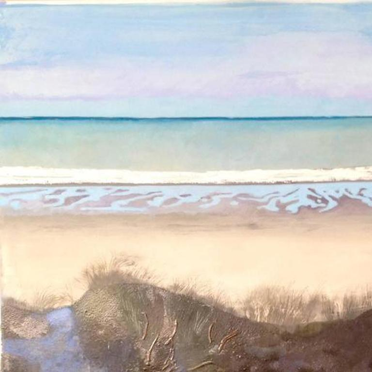 Bauman born in Warsaw, Poland, now living and working in Britain. As a landscape painter,whose interest lies not in narrative, but in form defined by light, she has been looking for motifs as contrasting as the cultivated landscapes of the