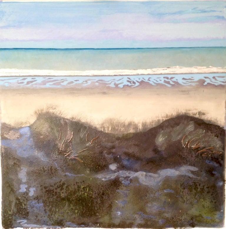 Wellington Bay New Zealand. Oil Paint on Canvas, Original, Excellent Art Reviews - Mixed Media Art by Lydia Bauman
