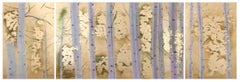 Golden Triptych, Original, Contemporary, Gold Leaf, Canvas, Good Art Reviews