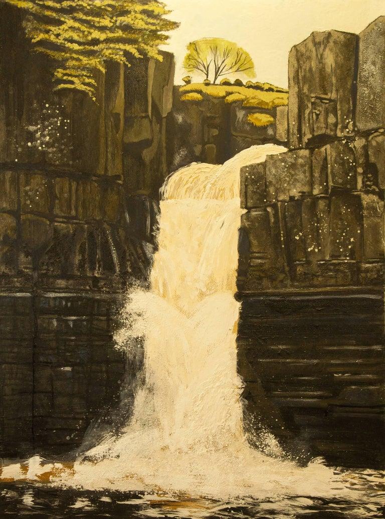 Lydia Bauman Landscape Painting - High Force ( County Durham ) Original, Oil on Canvas, Exemplary Art Reviews