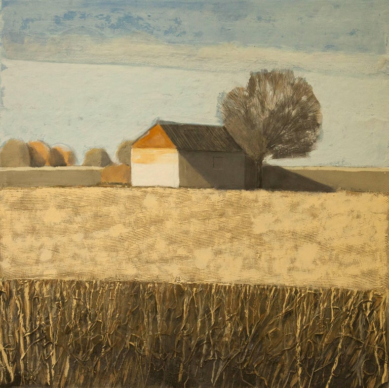 House in Pale Field (Cotswolds) Original Brilliant Art Reviews Collectable For Sale 3
